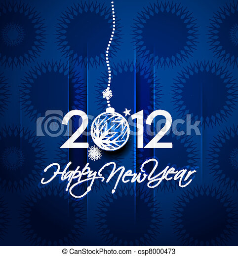 New year 2012 poster - csp8000473