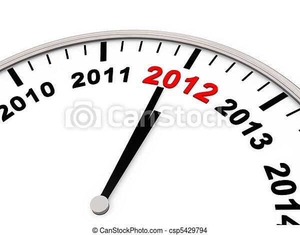 New year 2012 - csp5429794