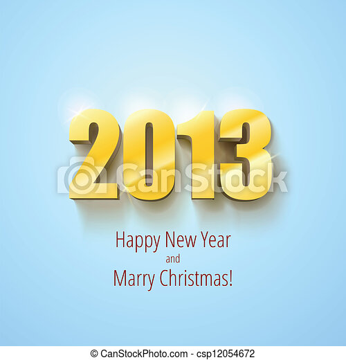 New year 2013 background gold numbers - csp12054672