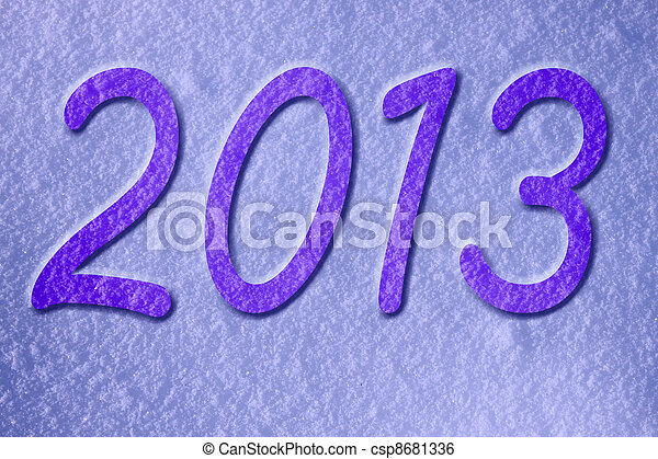 new year 2013 - csp8681336