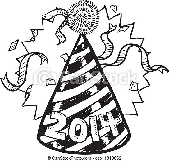 new year 2014 party hat csp11810852