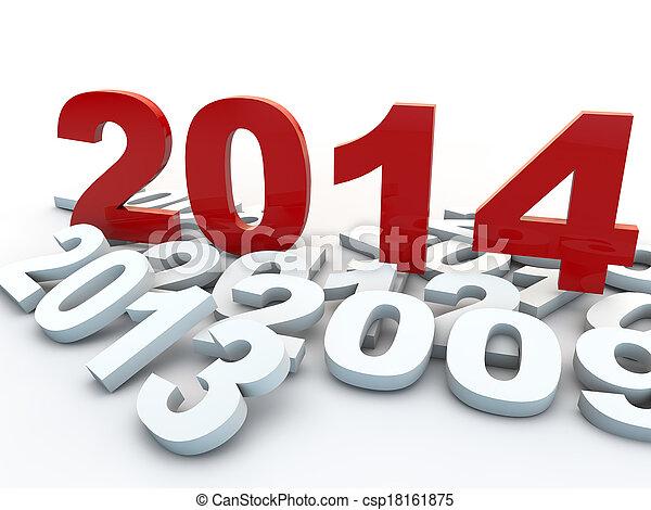 New Year 2014 - csp18161875