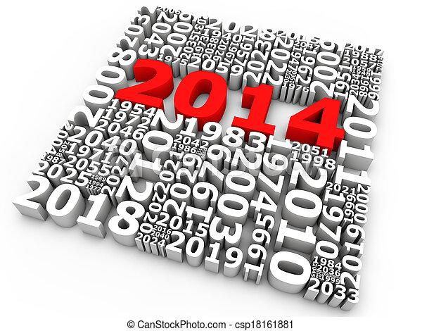New Year 2014 - csp18161881