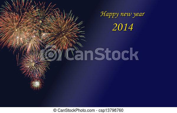 new year 2014 - csp13798760