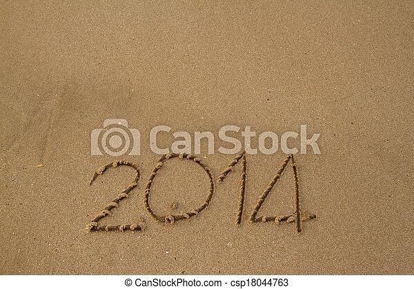 New year 2014 - csp18044763