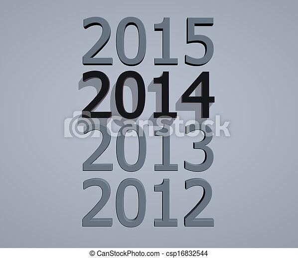 New year 2014 - csp16832544