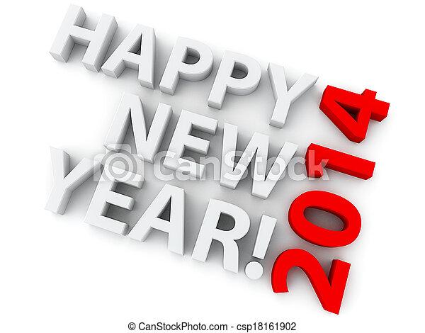 New Year 2014 - csp18161902