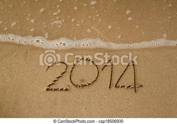 New year 2014 - csp18506930