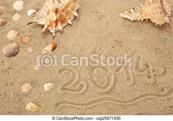 new year 2014 symbol - csp20671930