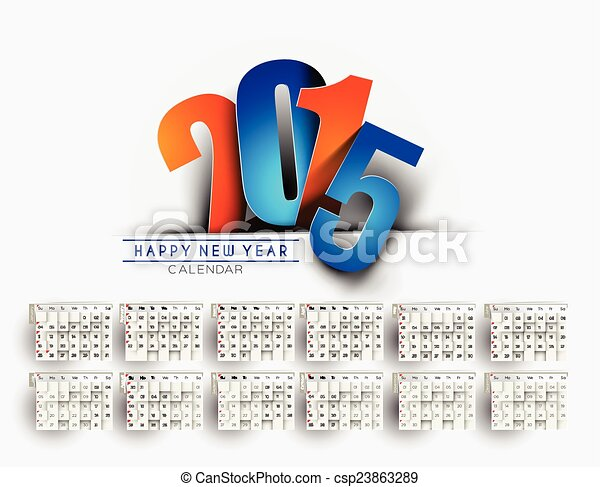 modern new year 2015 calendar background