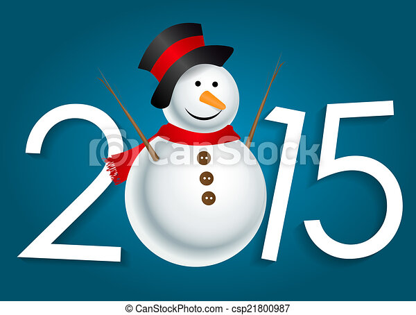 New Year 2015. Christmas Background Vector Illustration - csp21800987