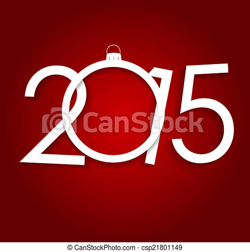 New Year 2015. Christmas Background Vector Illustration - csp21801149