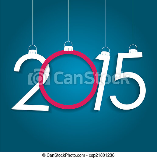 New Year 2015. Christmas Background Vector Illustration - csp21801236