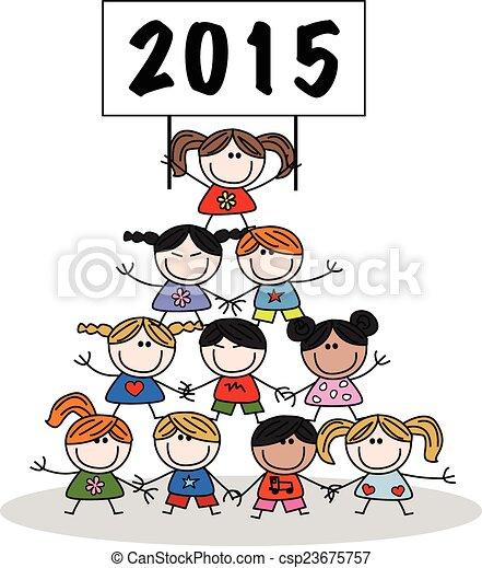 new year 2015  - csp23675757