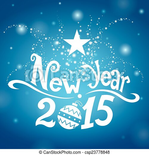 New Year 2015 - csp23778848