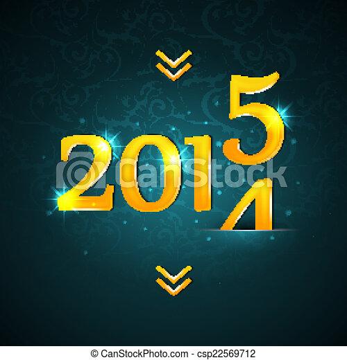 New year 2015 - csp22569712