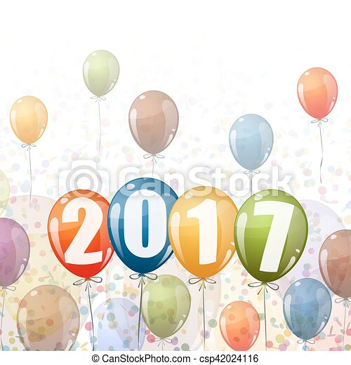 New Year 2017 balloons - csp42024116