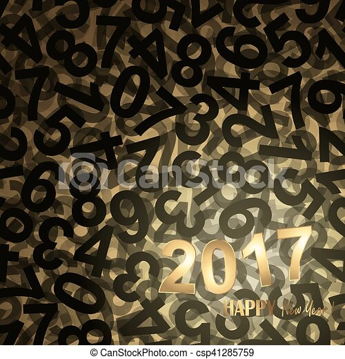 new year 2017 greetings background - csp41285759