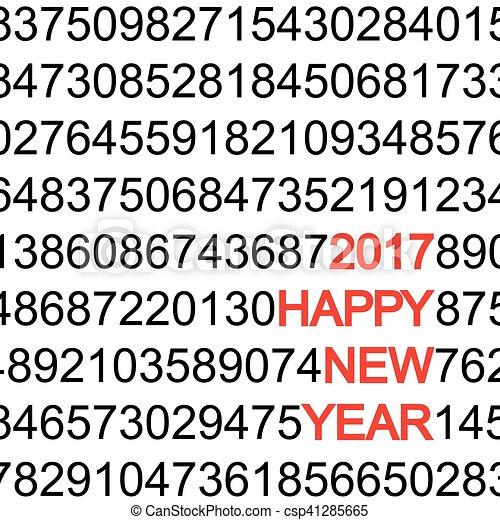 new year 2017 greetings - csp41285665