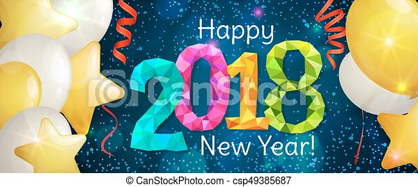new year 2018 banner csp49385687