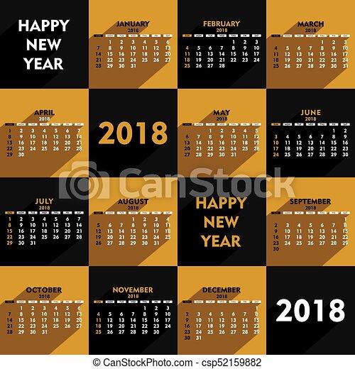 new year 2018 calendar design creative heart shape new year 2018