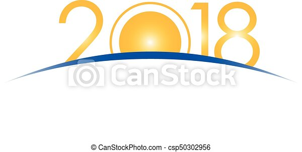 new year 2018 concept sunrise with digits year number vector clip rh canstockphoto com sunrise clipart black and white sunrise clipart black and white