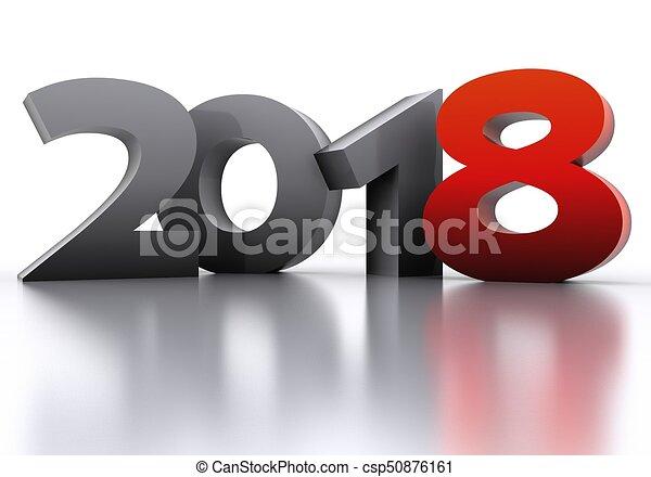 New Year 2018 - csp50876161