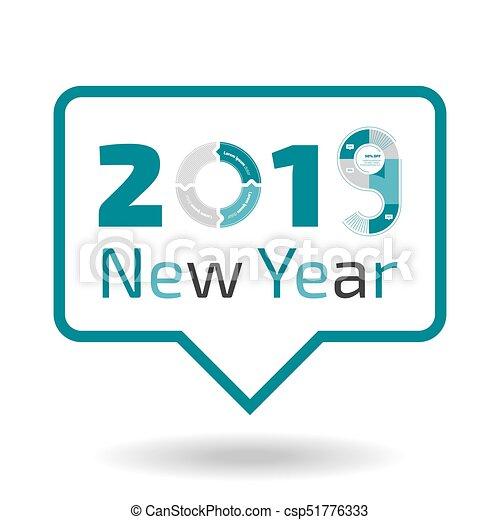 new year 2019 banner csp51776333