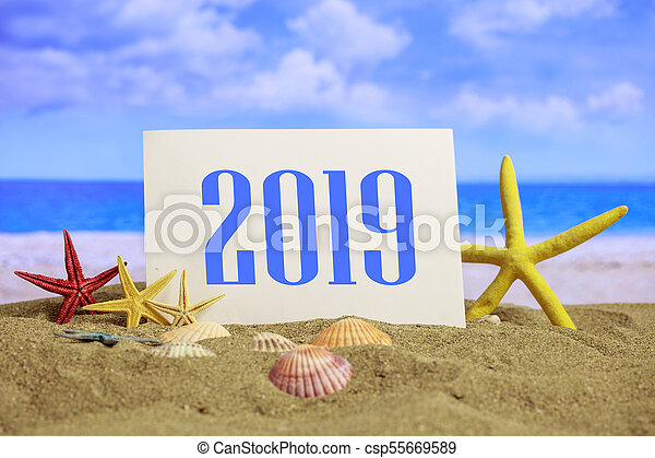 Christmas Vacations.New Year 2019 Celebration On The Beach Summer Christmas Vacations