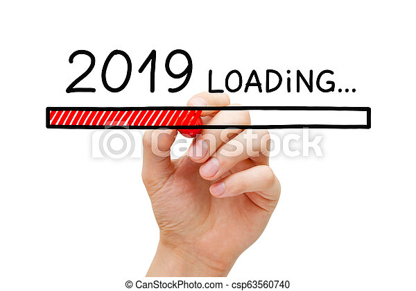 New Year 2019 Loading Concept - csp63560740