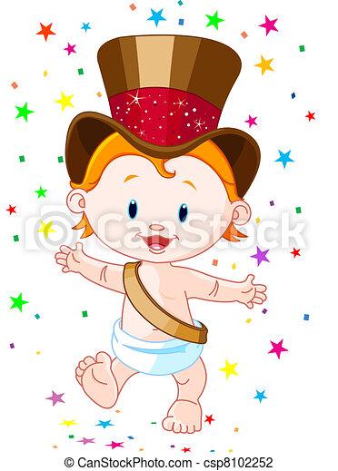 new year baby csp8102252