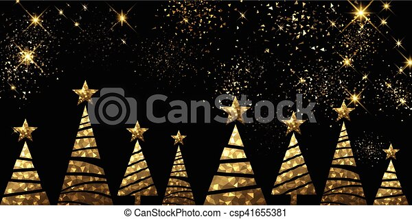 new year background with christmas trees csp41655381
