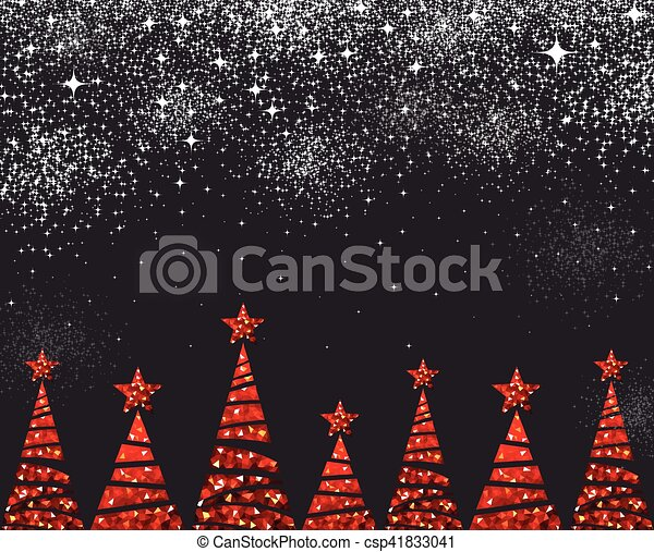 new year background with christmas trees csp41833041