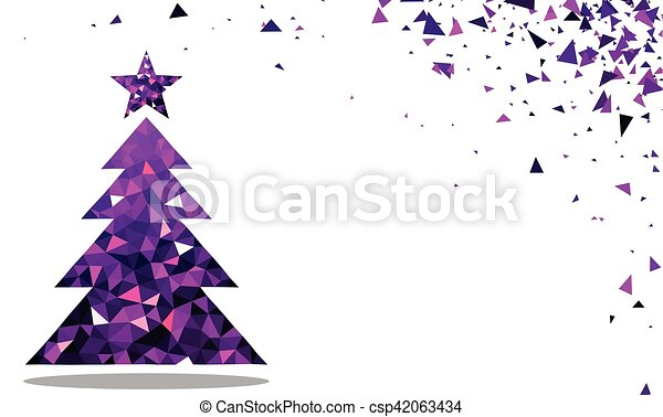 new year background with christmas tree csp42063434