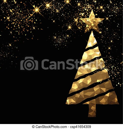 new year background with christmas tree csp41654309