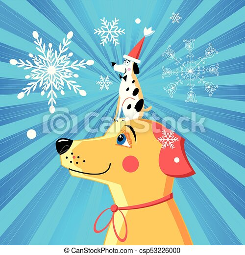new year card funny dog csp53226000