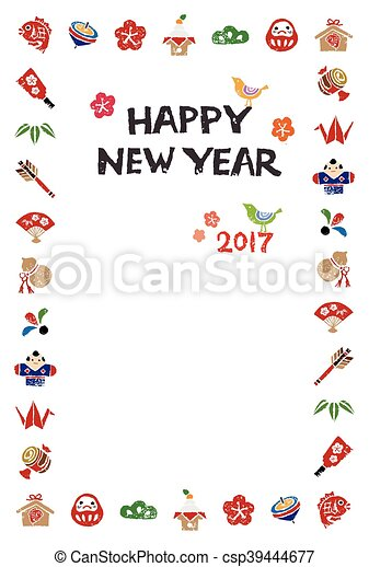 Vectors illustration of new year card with japanese element new