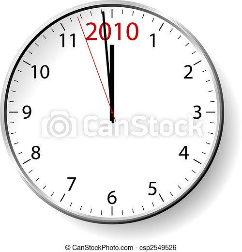 new year clock csp2549526