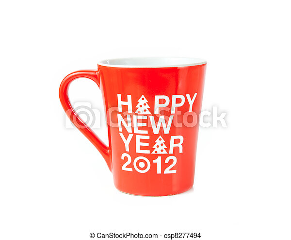 New year coffee cup - csp8277494