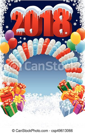 new year decoration with balloons csp49613066