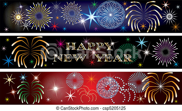 new year firework banners 2 csp5205125