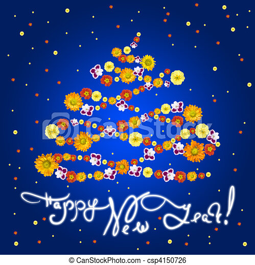 new year greeting card - csp4150726