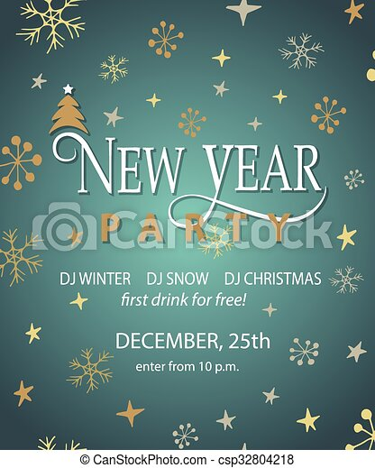 New Year Party Background Design Template