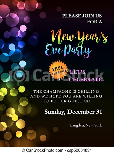 New year party invitation new years party invitation with new year party invitation csp52004831 stopboris Gallery