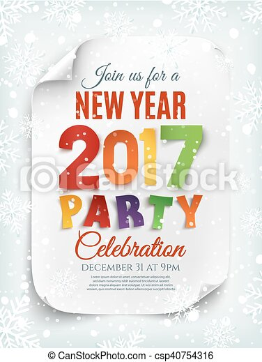 New year party poster, brochure or invitation template. New year ...