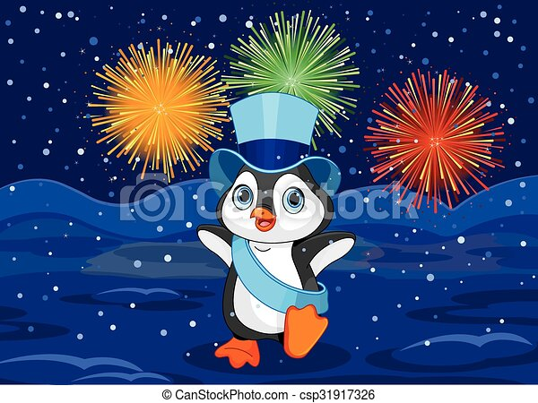 new year penguin csp31917326