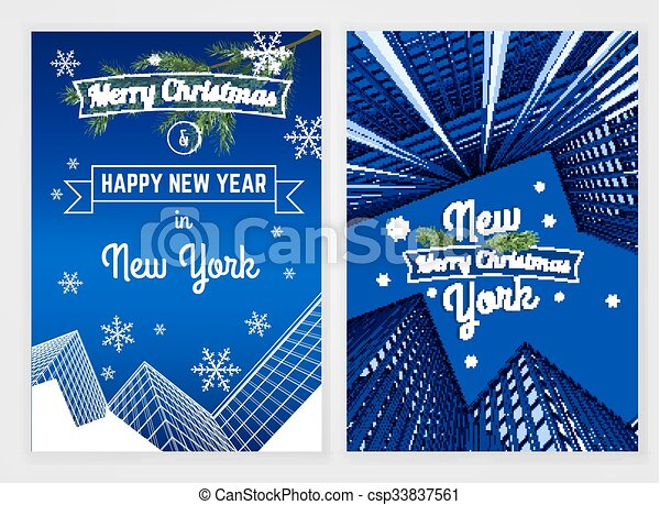 new year postcard template csp33837561