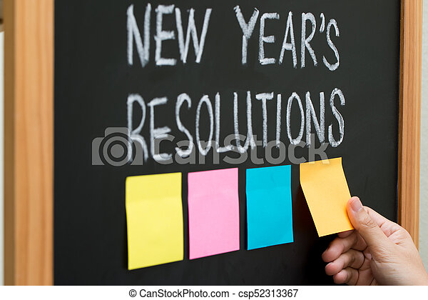 New year resolutions - csp52313367