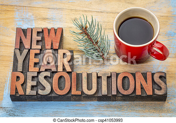 New Year resolutions - csp41053993