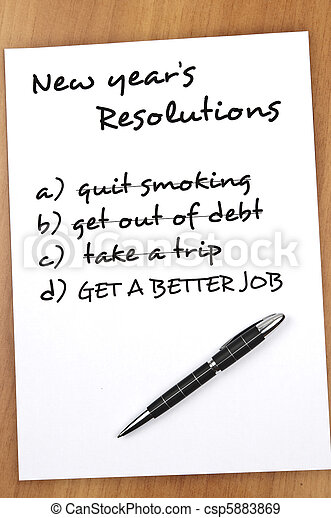 New year resolutions - csp5883869